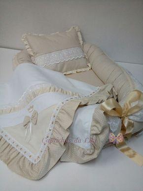 12316e205bda7 Kit com um ninho para bebê com travesseiro + uma linda mantinha em piquê  100%