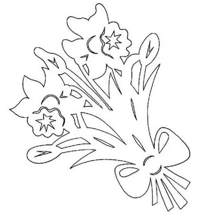 шаблоны цветов на открытку к 9 мая карандаши, обратной стороне