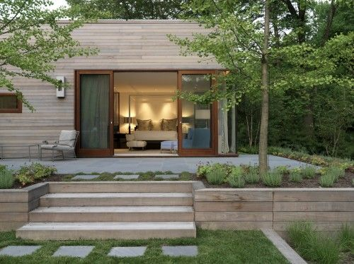 Love the wood for planters, for natural