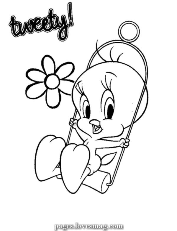 Exceptional Cute Tweety Chicken Coloring Pages Procoloring Com Bird Coloring Pages Tweety Bird Drawing Baby Looney Tunes