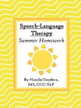 Summer Speech-Language Therapy Homework Packet!  For Articulation and Language