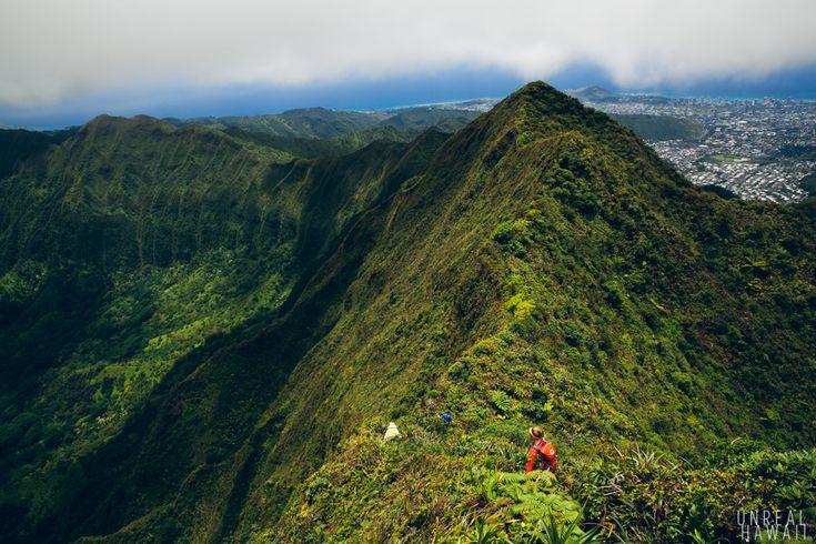 Koolau ridge to Manoa on Oahu. Had a close one here