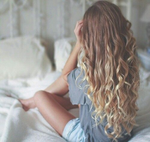 An ombre goddess with mermaid curls   hairgoals Get a similar look with your favorite Nume wand