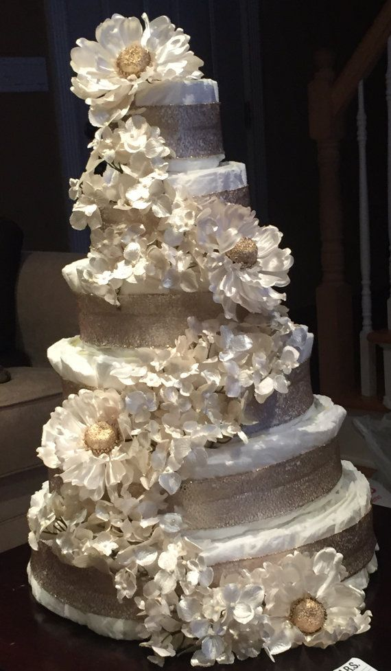 Diaper Cake 6 Tier Etsy In 2020 Wedding Cake Decorations Wedding Cake Table Amazing Wedding Cakes