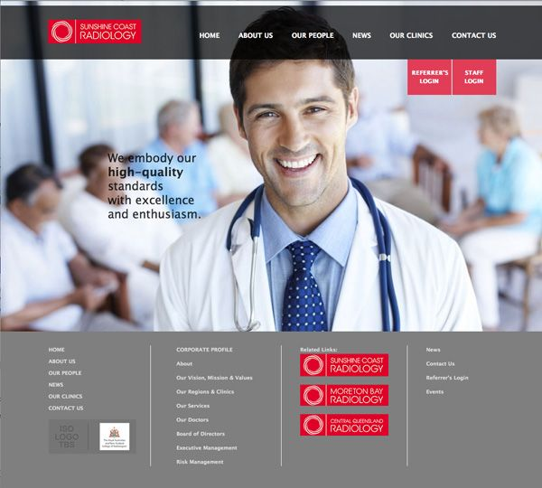 The new stylish and innovative website for Imaging Queensland