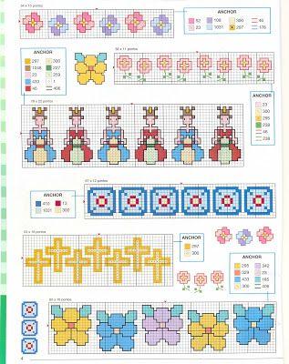 VARIEDADES DE PATRONES - DIAGRAMAS Y PUNTO CRUZ | Patrones Crochet, Manualidades y Reciclado