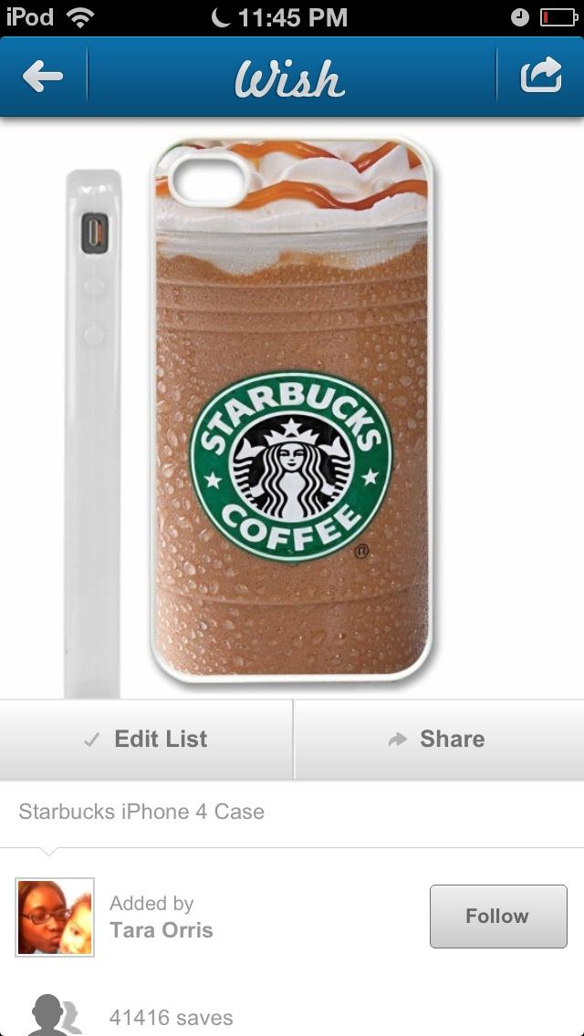 Starbucks I phone cover :)
