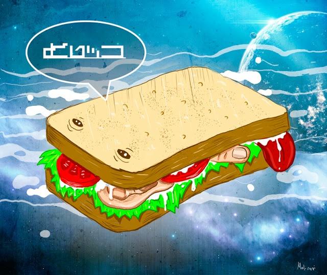 бутерброд Василий бороздит галактику в поисках подходящего соуса