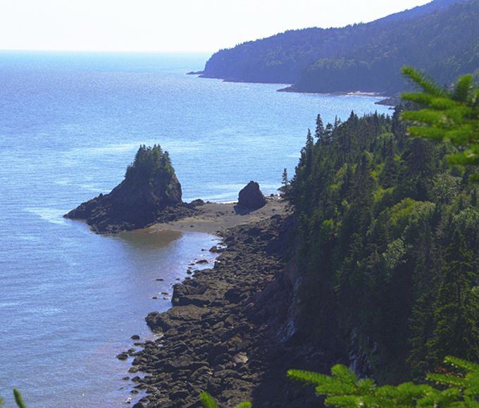 Squaw's PCap Lookout in Fundy National Park, New Brunswick