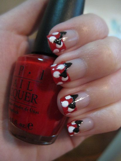 imagenes de uñas decoradas de minnie