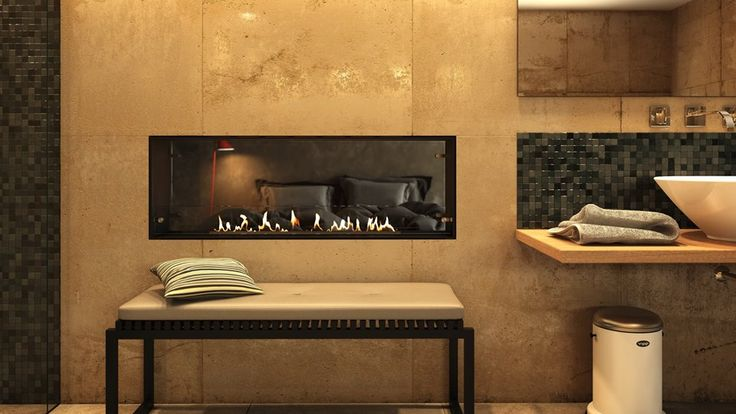 Automatic fireplace denver e-Ribbon fire by Decoflame