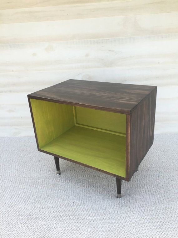 The Wee Record Player Stand Mid Century Modern by TinyLionsDesigns