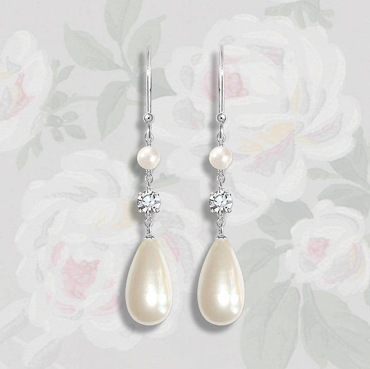 darling vintage style pearl drop earrings by susie warner | notonthehighstreet.com