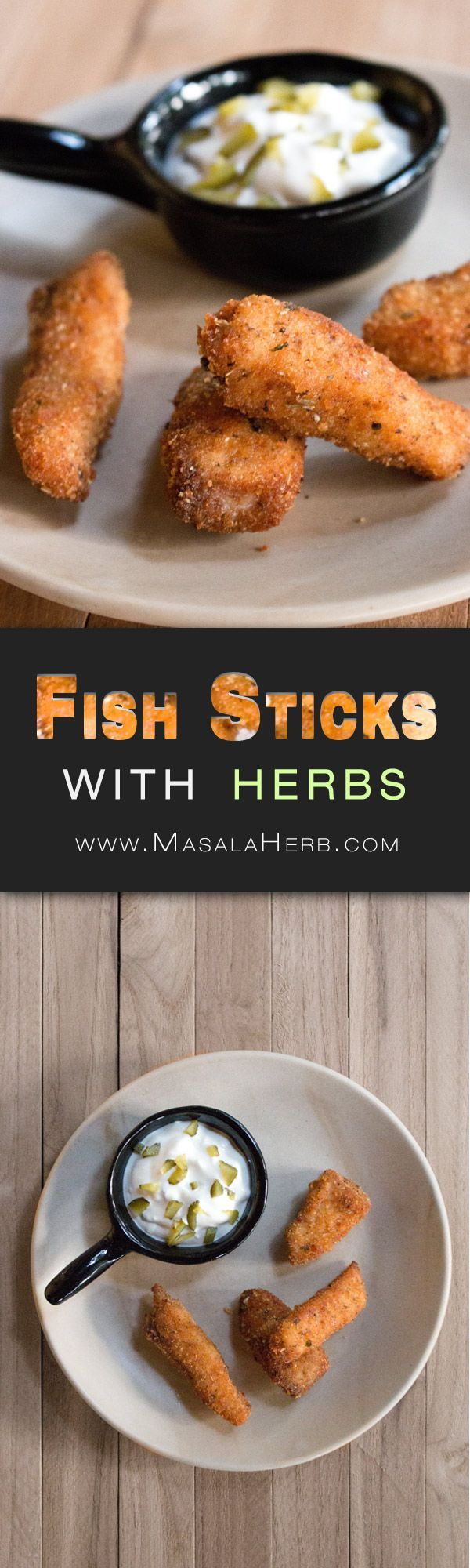 Fried Fish Sticks Recipe with fresh Fish Fillet and Herbs - How to make crispy fried fish fingers. Serve with Tartar sauce still hot. you ca even freeze a batch right after you coated the fish sticks. www.MasalaHerb.com