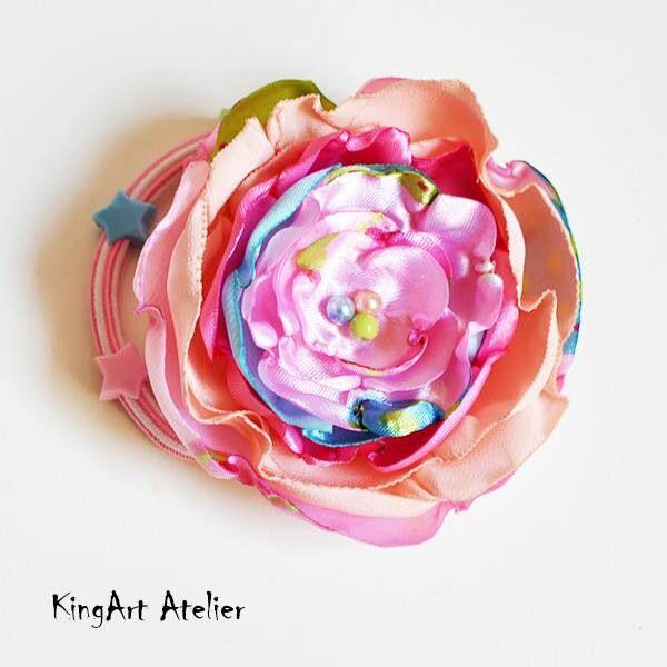 Tutti frutti flower hair accessorie by KingArt Atelier