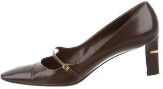 Louis Vuitton Leather Mary Jane Pumps