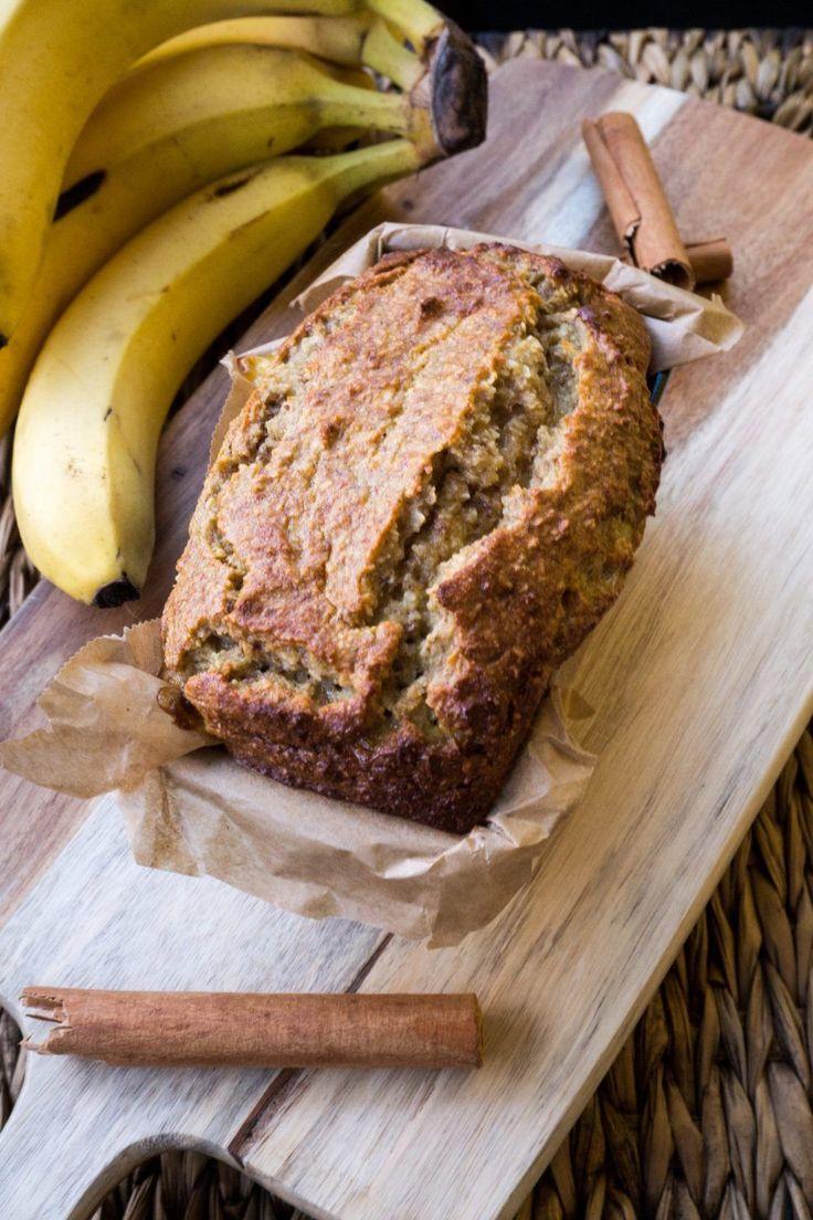 Saftiges Bananenbrot ohne Zucker & Mehl   Einfaches Rezept für Bananenbrot ohne Gluten und Zucker
