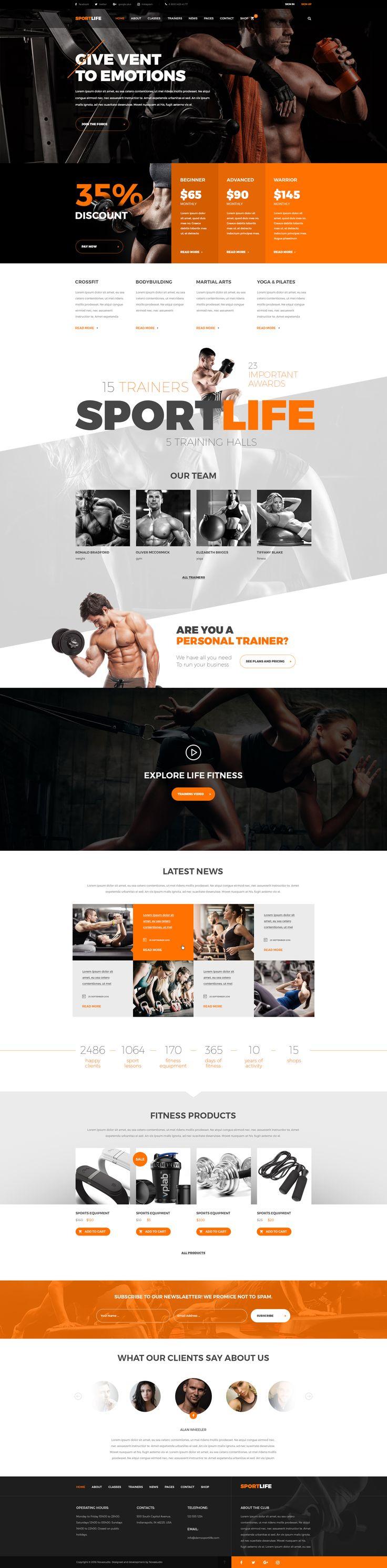 SportLife - Sport, Gym, Fitness PSD Template • Download ➝ https://themeforest.net/item/sportlife-sport-gym-fitness-psd-template/17896756?ref=pxcr