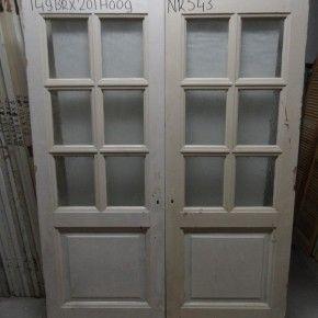 Paneeldeuren met glas Nr. 543