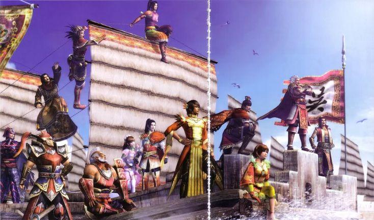 Tags: Dynasty Warriors, Sun Shang Xiang, 3D, Koei, Ling Tong, Taishi Ci, Sun Ce, Zhou Yu, Lu Meng, Lu Xun, Zhou Tai, Gan Ning, Sun Quan, Sun Jian, Official Art