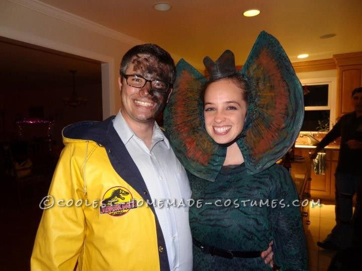 Dennis Nedry and Dilophosaurus from Jurassic Park Couple Costume... This website is the Pinterest of costumes