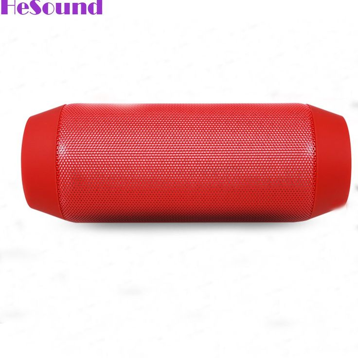 HeSound(TM) Wireless Bluetooth Portable Speaker with Dynamic LED Lights and HD Sound - Red. Rich, LOUD and Crystal Clear HD stereo sound is delivered from 2 high quality drivers. Blue LED aperture navigation; Bluetooth high-definition calls; Support FM radio, TF Card, Bluetooth and line-in mode; Built-in Microphone for hands-free. 5 hours of play and LED light effects on a single charge. 3.5mm Audio Input Support FM Radio, TF Card, Audio and Video Remote Control - Compatible with wireless...