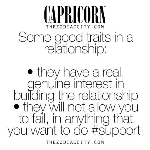 Zodiac Capricorn Good Relationship Traits | See much more at TheZodiacCity.com