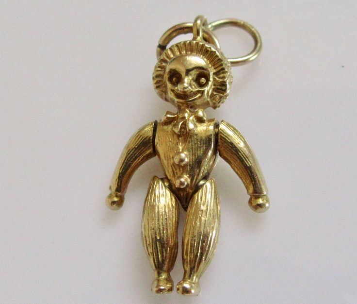 9ct Gold Andy Pandy Character Moving Charm or Pendant by TrueVintageCharms on Etsy