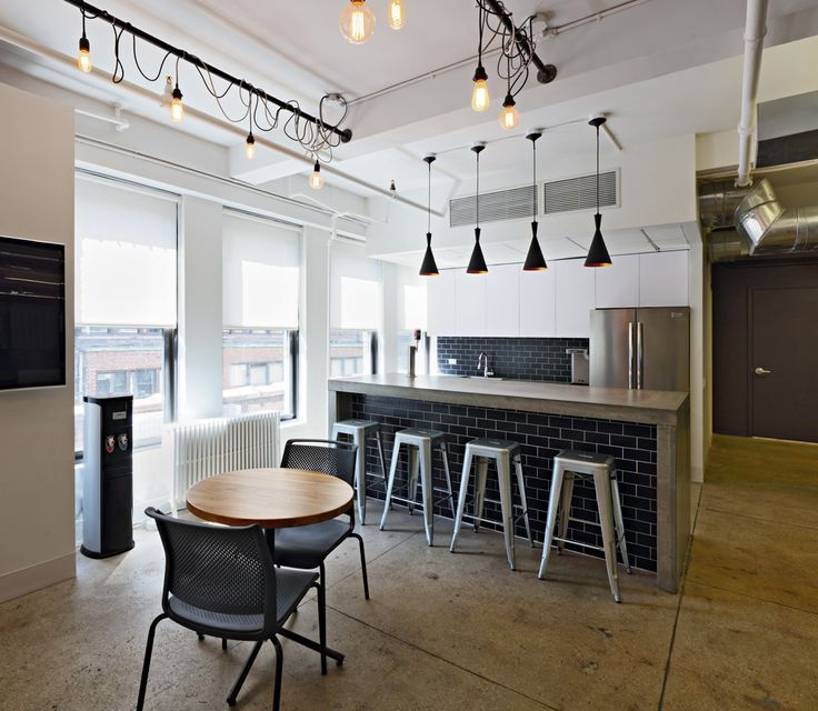 office pantry design. BRDesign | Neoscape Workplace Architecture Interior Design Cool Office Pantry Bar Subway Tile Industrial Lighting E