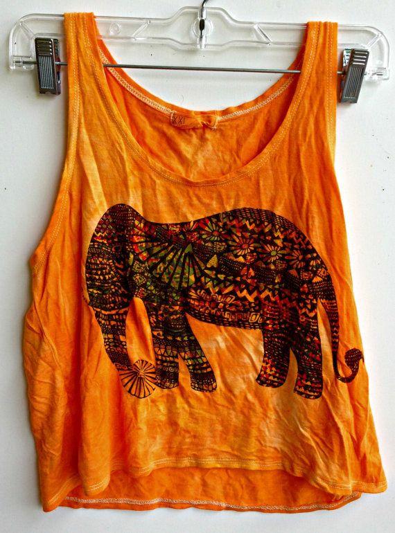 tye dye elephant tank