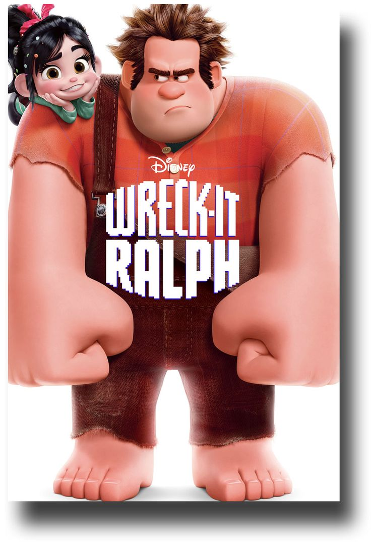 Wreck It Ralph Poster - Girl on Shoulder 1st avalable at http://concertposter.org/wreck-it-ralph-poster-movie-promo-flyer-11-x-17-green-lake/ #WreckItRalph $9.84