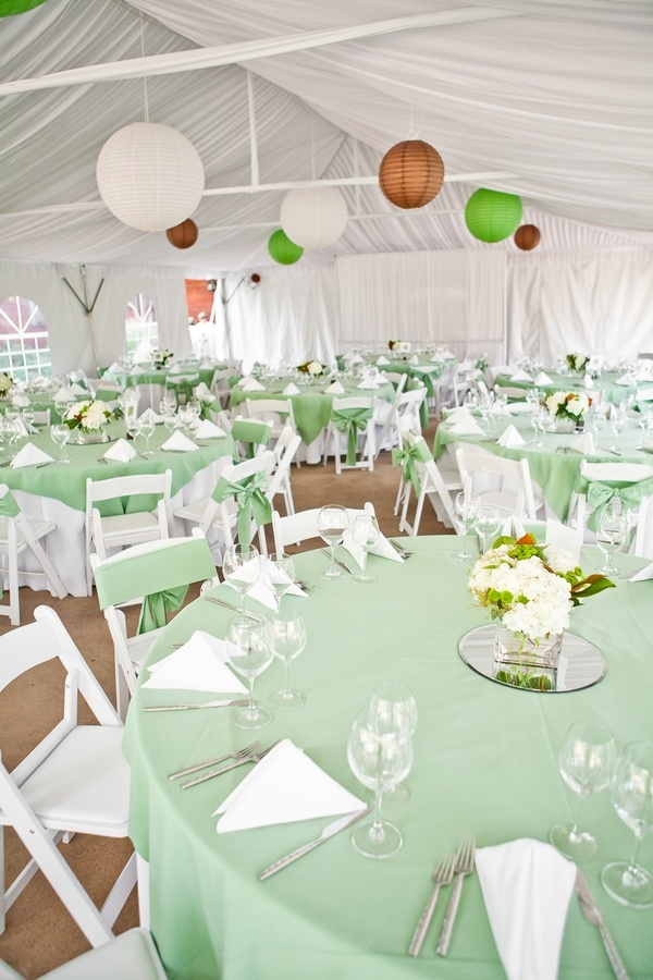 wedding venues on budget in atlanta%0A White tent with green and brown accents  perfect for a mountain wedding