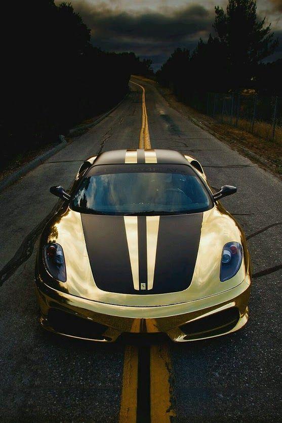 cars - Collections - #GoldFerrari #Ferrari
