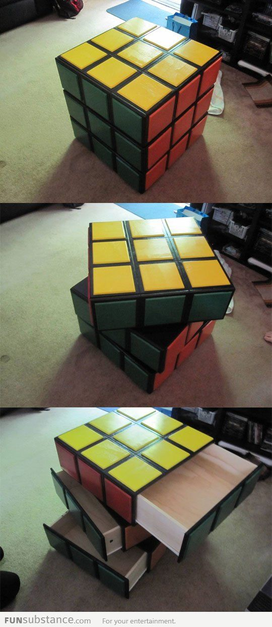 Asombrosa cajonera Cubo de Rubik   -   Awesome Rubik's Cube Dresser