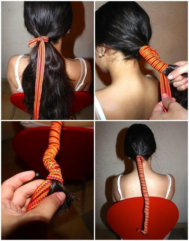Lisser ses cheveux sans chaleur, ça vous tente? Tout ça grâce à un ruban traditionnel maghrébin appelé kardoune.