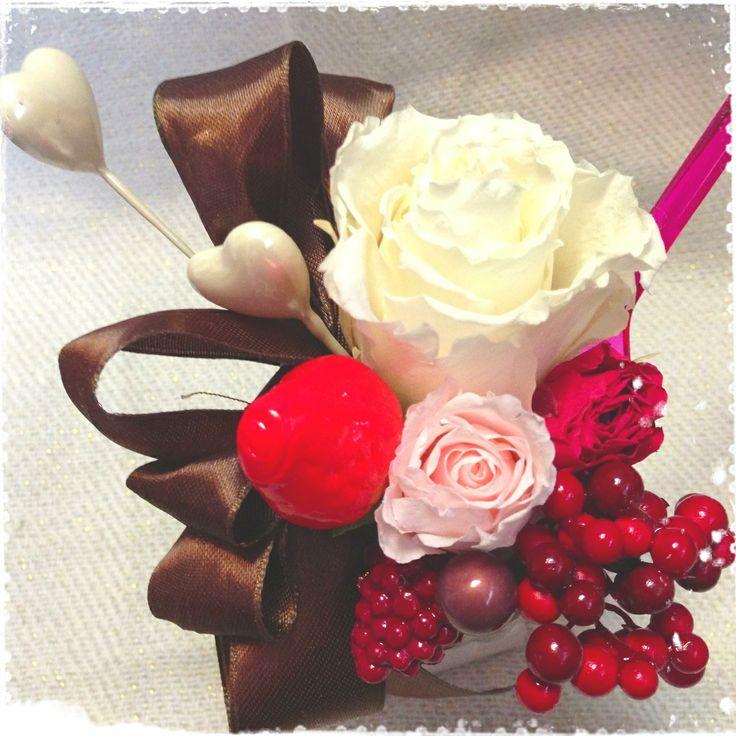 chocolate parfait arrangement
