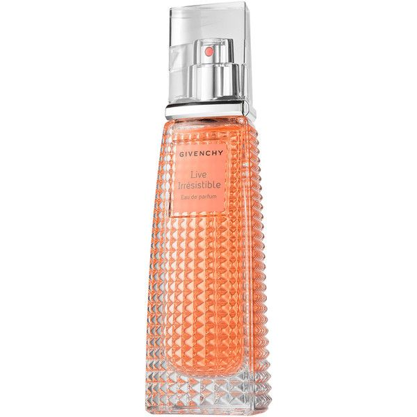 Givenchy Live Irrésistible found on Polyvore featuring beauty products, fragrance, beauty, givenchy fragrance, flower fragrance, blossom perfume, givenchy and givenchy perfume