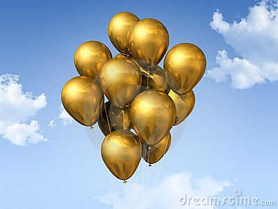 Gold Balloons On A Blue SkyGolden Balloons, Balloons Extrvaganza, Things Golden, Balloons Beautiful, Golden Godess, Balloons I, Gold Balloons, Balloons Up, Goldor Bronze