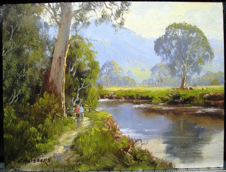 This is a painting by Gerard Mutsaers.(Frank Mutsaers oldest son )