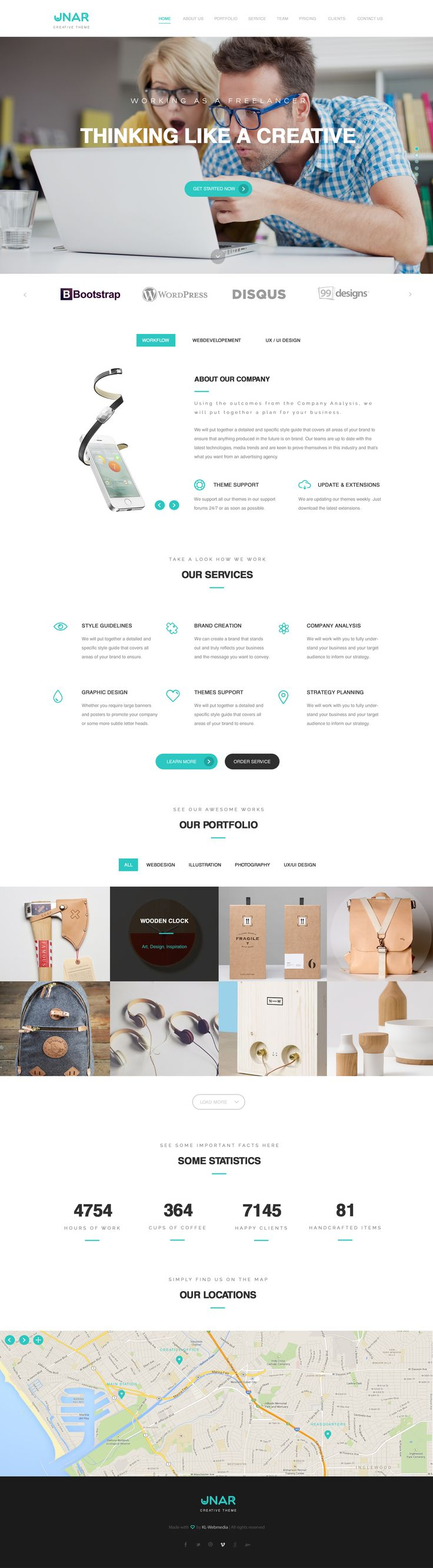 Unar   Multi Purpose PSD Template. Create Your Own WebsitePage ...