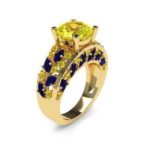 Moderno italiano 14K amarillo oro Ct 30 Marquesa por DesignMasters