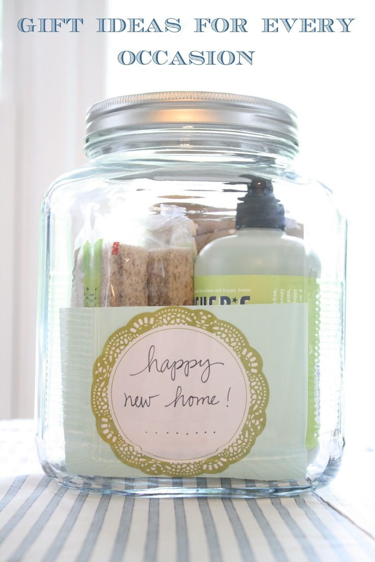 Creative gift ideas for every occasionNew Home, Giftideas, Gift Ideas, Cute Ideas, House Warm, Diy Gift, Gift Jars, Housewarming Gifts, Homemade Gift