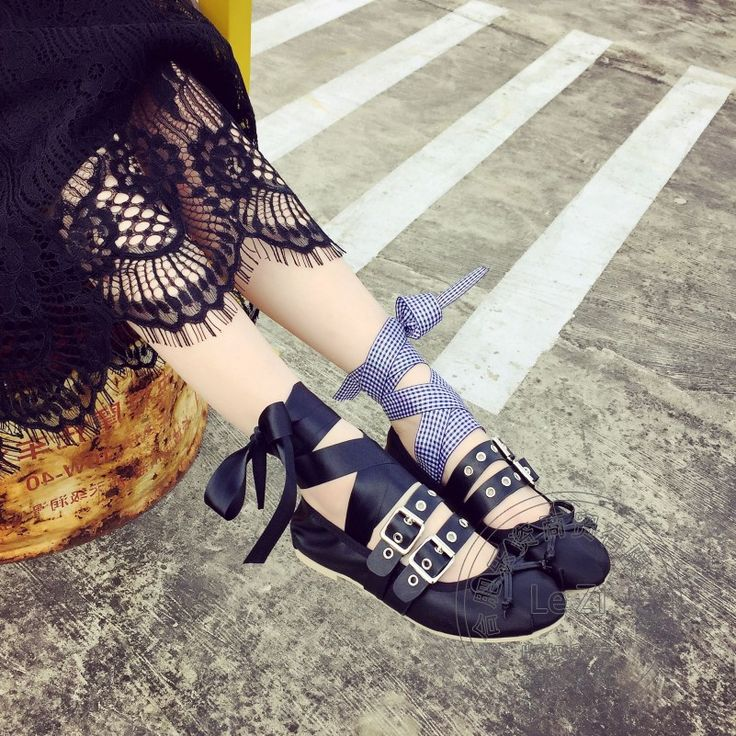 Ballerinas Weichem Leder China Schuhe Gamasche flachem boden Frauen Schuhe Pu Toeshoe Punk Stil Ballerina Reine Farbe Strappy //Price: $US $27.67 & FREE Shipping //     #clknetwork