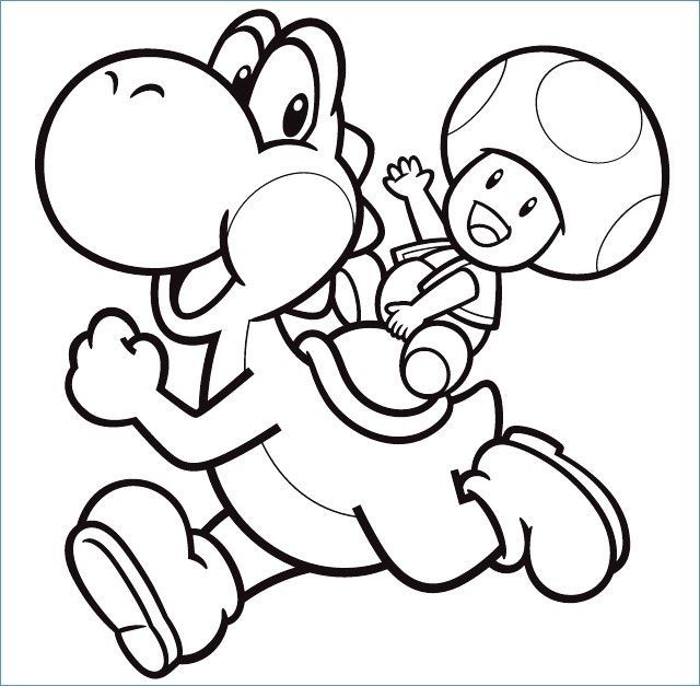 68 Luxury Photos Of Yoshi Coloring Page Check More At Https Www