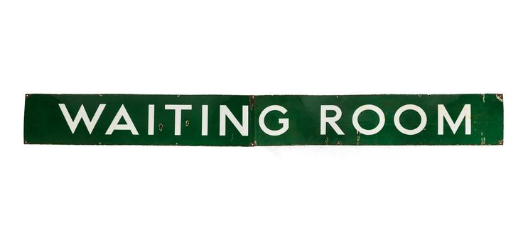 Buy it now: ORIGINAL WAITING ROOM ENAMEL SIGN C1940S #Layer