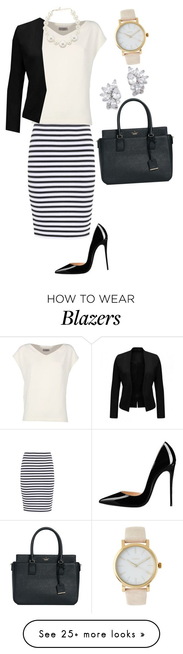 """""""220612 BSM"""" by mil0000000000000 on Polyvore featuring A.L.C., Alberto Biani, Kenneth Jay Lane, Timex and Kate Spade"""