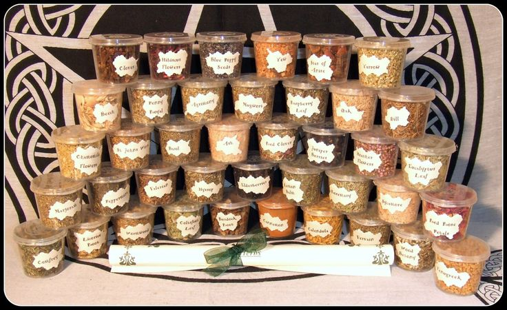 Witch Herb Set 40 Magical Herbs Starter Kit in reusable tubs for Rituals  Wiccan Altar Pagan Rituals Blends Wicca Spells by PaganMagicalCrafts on Etsy https://www.etsy.com/listing/230604585/witch-herb-set-40-magical-herbs-starter