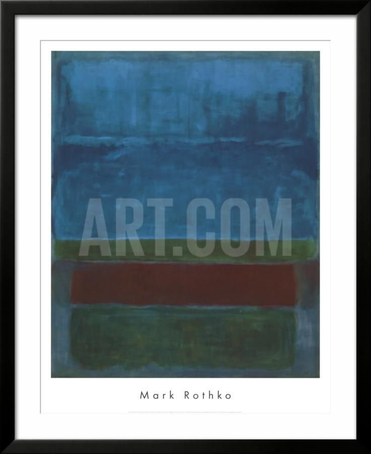 Blue, Green, and Brown Framed Art Print by Mark Rothko at Art.com