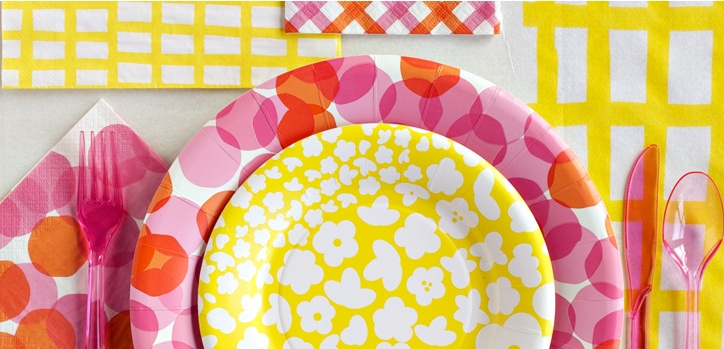 Colors and patterns: Target Products, Marami Paper, Parties Ideas, Orange Parties, Parties Plates, Gardens Parties, Paper Products, Mi Parties, Mara Mi Paper