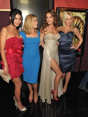 Elisabeth Shue, Kelly Brook, Jessica Szohr, and Riley Steele at Piranha 3D (2010)